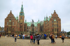 Het Kasteel van Frederiksborg, Denemarken Stock Foto's