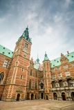 Het Kasteel van Frederiksborg, Hillerod, Denemarken Stock Foto's