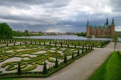 Het Kasteel van Frederiksborg, Hillerod, Denemarken Stock Foto
