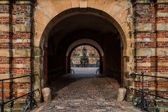 Het kasteel van Frederiksborg in Hillerod, Denemarken Stock Foto's