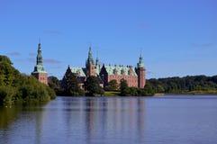 Het Kasteel van Frederiksborg in Kopenhagen Denemarken Stock Foto's