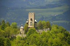 Het Kasteel van Gaiersburg, Friesach, Carinthia Stock Foto's