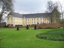 Het kasteel van Gavnø in het zuidoosten van Denemarken Stock Foto's