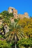 Het Kasteel van Gibralfaro in Malaga, Spanje stock fotografie