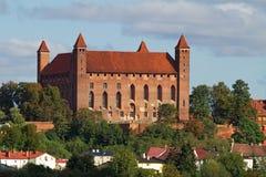 Het kasteel van Gniew Stock Afbeeldingen