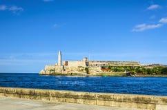 Het kasteel van Gr Morro, het symbool van Havana Royalty-vrije Stock Fotografie