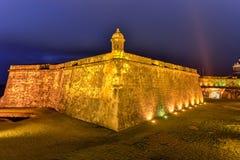 Het Kasteel van Gr Morro, San Juan, Puerto Rico Royalty-vrije Stock Afbeeldingen