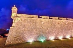 Het Kasteel van Gr Morro, San Juan, Puerto Rico Stock Afbeeldingen
