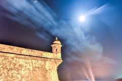 Het Kasteel van Gr Morro, San Juan, Puerto Rico Royalty-vrije Stock Foto