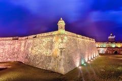 Het Kasteel van Gr Morro, San Juan, Puerto Rico stock afbeelding