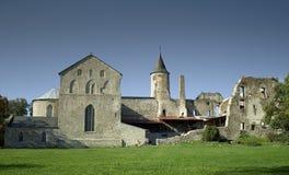 Het kasteel van Haapsalu. stock fotografie