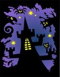 Het kasteel van Halloween royalty-vrije illustratie