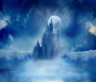 Het kasteel van Halloween Stock Afbeelding