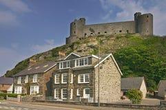 Het kasteel van Harlech Stock Afbeeldingen