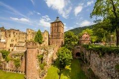 Het kasteel van Heidelberg Stock Afbeeldingen