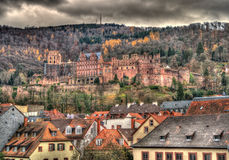 Het Kasteel van Heidelberg - Duitsland, baden-Wurttemberg Stock Foto