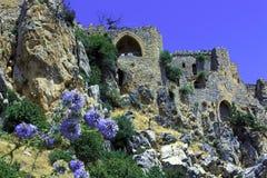 Het Kasteel van heilige Hilarion, Kyrenia, Cyprus Stock Foto's