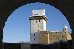 Het kasteel van Herman van Narva. Stock Afbeelding