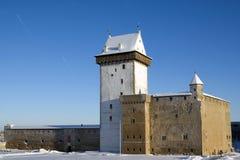 Het kasteel van Herman van Narva. Stock Foto's