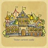 Het kasteel van het beeldverhaalsprookje. Vectorillustratie stock illustratie
