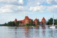 Het Kasteel van het Eiland van Trakai Stock Foto's