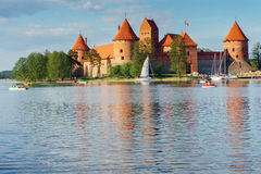 Het Kasteel van het Eiland van Trakai Stock Afbeelding