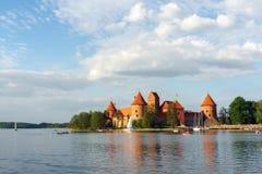 Het Kasteel van het Eiland van Trakai Royalty-vrije Stock Fotografie