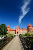 Het Kasteel van het Eiland van Trakai Trakai litouwen Royalty-vrije Stock Afbeelding