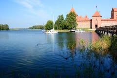 Het Kasteel van het Eiland van Trakai Trakai litouwen Stock Foto's