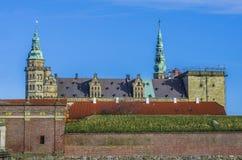 Het Kasteel van het gehucht van Kronborg in Denemarken Stock Afbeelding