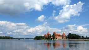 Het kasteel van het Trakaiwater in Litouwen Royalty-vrije Stock Afbeeldingen