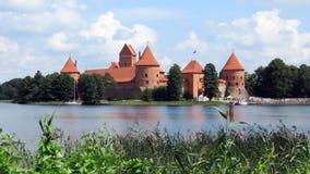 Het kasteel van het Trakaiwater in Litouwen Royalty-vrije Stock Afbeelding