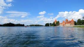 Het kasteel van het Trakaiwater in Litouwen Stock Foto