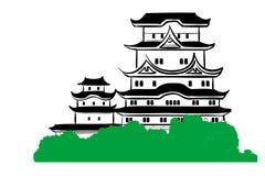 Het kasteel van Himeji stock illustratie