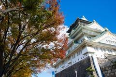 Het Kasteel van Himeji in de herfst, oriëntatiepunt van Osaka Stock Foto's