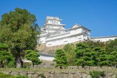 Het Kasteel van Himeji is een beroemde toeristische attractie in Japan royalty-vrije stock foto