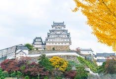 Het Kasteel van Himeji in Hyogo-Prefectuur, Japan, Unesco-Werelderfenis stock foto's