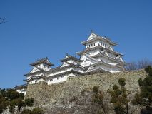 Het kasteel van Himeji, Japan Royalty-vrije Stock Foto's