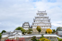Het Kasteel van Himeji in Japan Royalty-vrije Stock Afbeeldingen