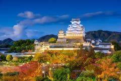Het kasteel van Himeji, Japan stock foto's