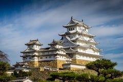 Het Kasteel van Himeji in Unesco van Japan stock afbeelding