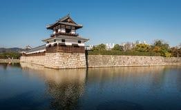 Het Kasteel van Hiroshima in Hiroshima, Japan Royalty-vrije Stock Foto's