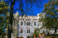 Het Kasteel van Hluboka in Tsjechische Republiek Royalty-vrije Stock Afbeelding