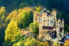 Het Kasteel van Hohenschwangau in Beieren stock fotografie