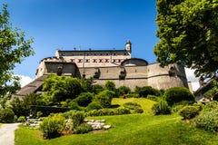 Het kasteel van Hohenwerfen in Oostenrijk royalty-vrije stock foto's
