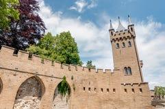Het Kasteel van Hohenzollern in baden-Wurttemberg, Duitsland stock foto's
