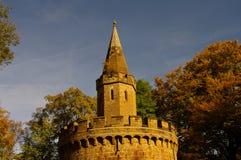 Het kasteel van Hohenzollern in Swabian tijdens de herfst Royalty-vrije Stock Foto's