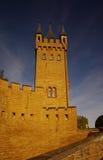 Het kasteel van Hohenzollern in Swabian tijdens de herfst Stock Foto's