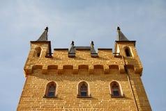 Het kasteel van Hohenzollern in Swabian tijdens de herfst Stock Afbeeldingen