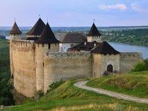 Het kasteel van Hotyn Stock Afbeelding
